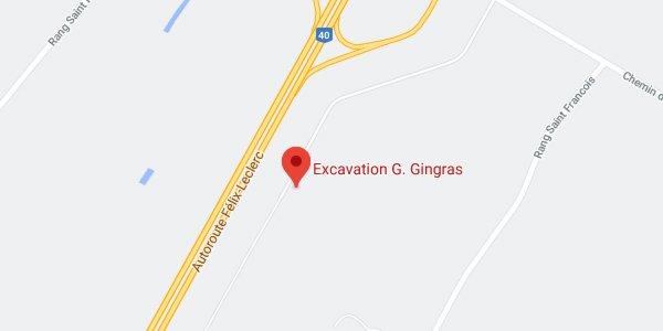 Google Map : G. Gingras Excavation